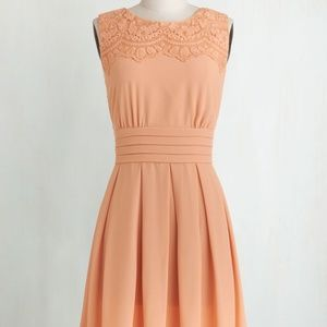 Brand New V.I.Pleased Dress in Peach